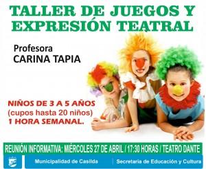 taller de juegos y expresión teatral