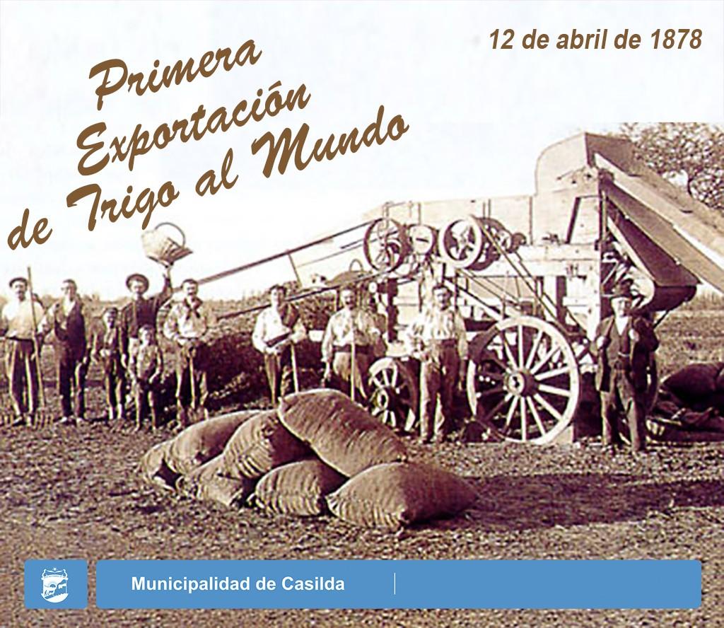 Primera exportación de trigo al mundo 1024