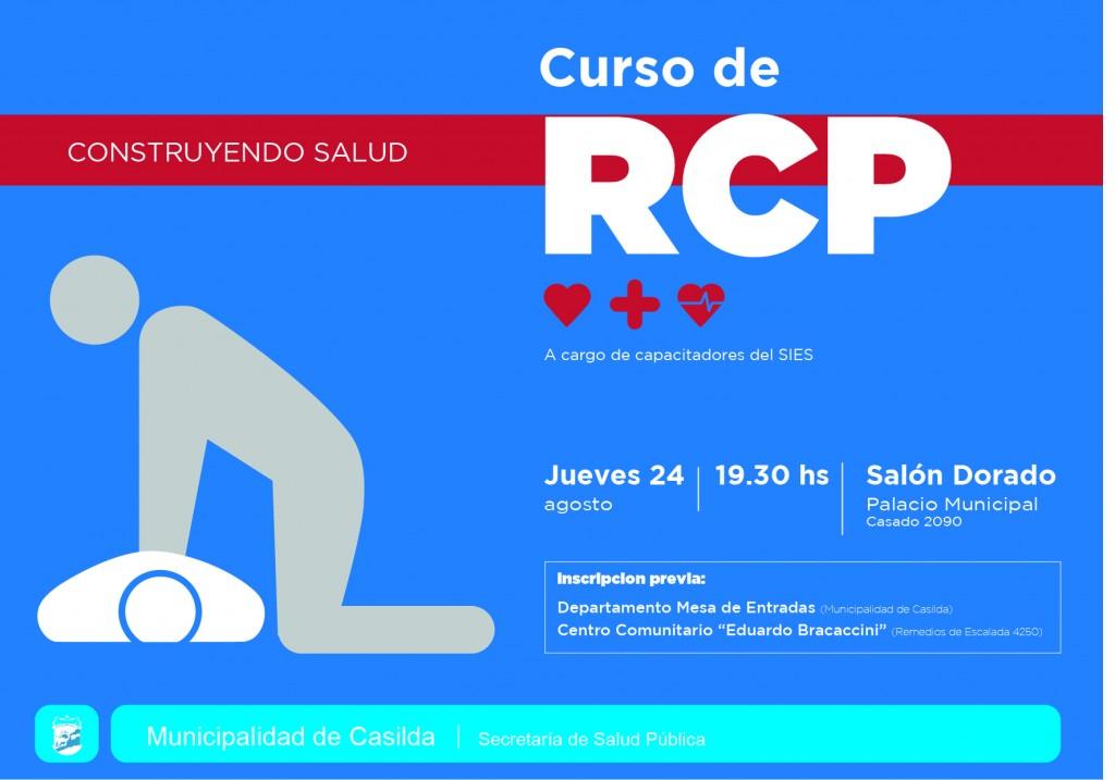 Curso gratuito de RCP en el Salón Dorado