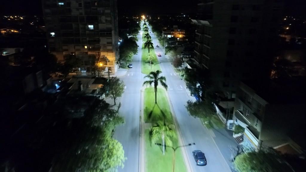 Casilda tiene nueva luminaria LED en bulevares