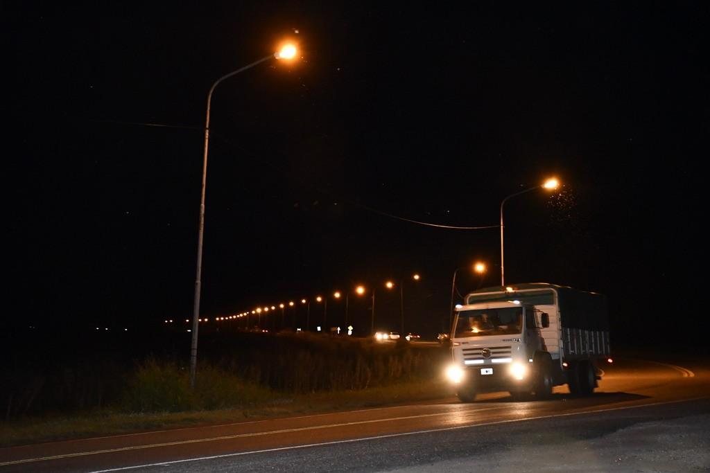 Renovada iluminación en la curva de ruta 26